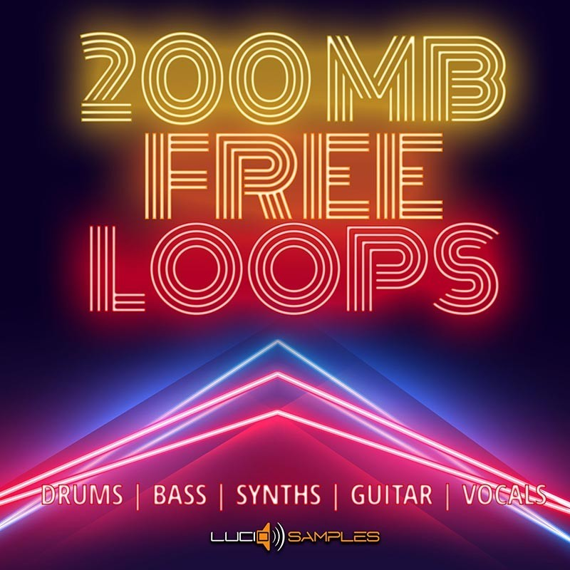 200 MB Free Loops Pack, Drum, Bass, Synth, Guitar, Vocal